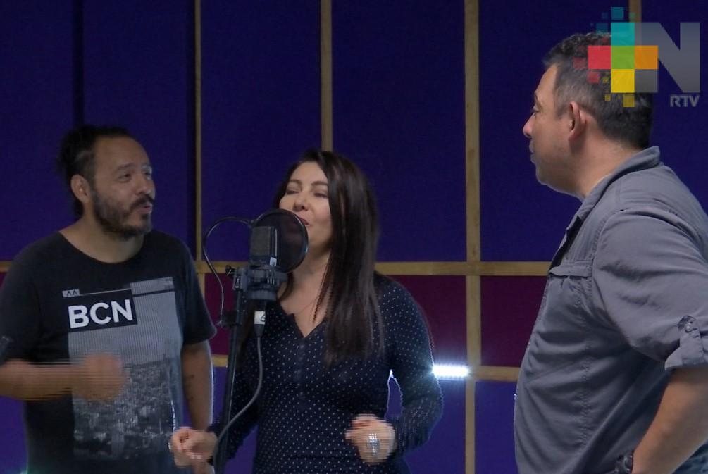 Mara Escalante graba disco en el estudio de RTV Música