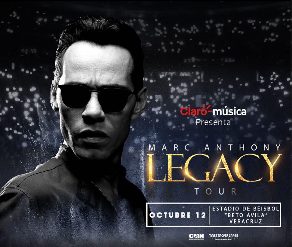 Marc Anthony llega a Veracruz con su Gira Legacy Tour