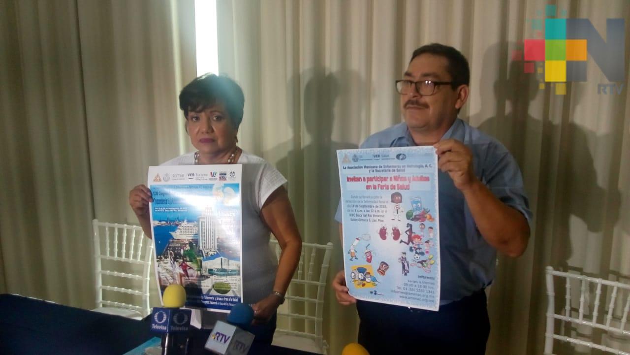 Del 19 al 22 de septiembre realizarán el Congreso Nacional de Enfermeras de Nefrología en Boca del Río