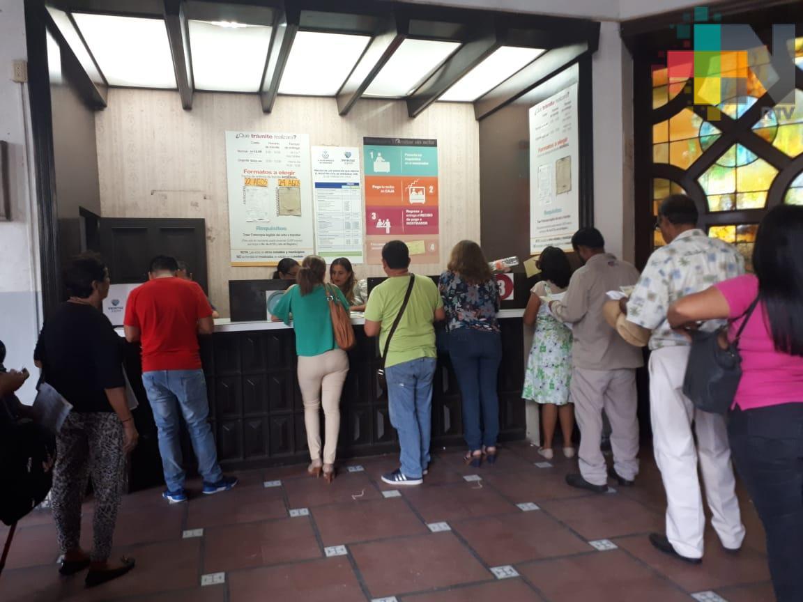 Aumenta 30% la demanda de trámites en Registro Civil de la ciudad de Veracruz