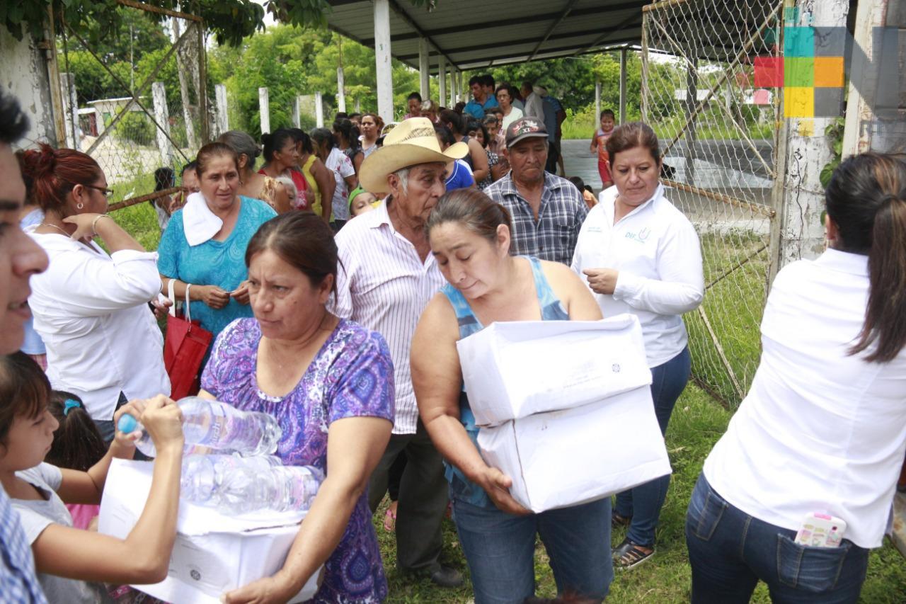 Concluye entrega de apoyos por onda de calor en Martínez de la Torre