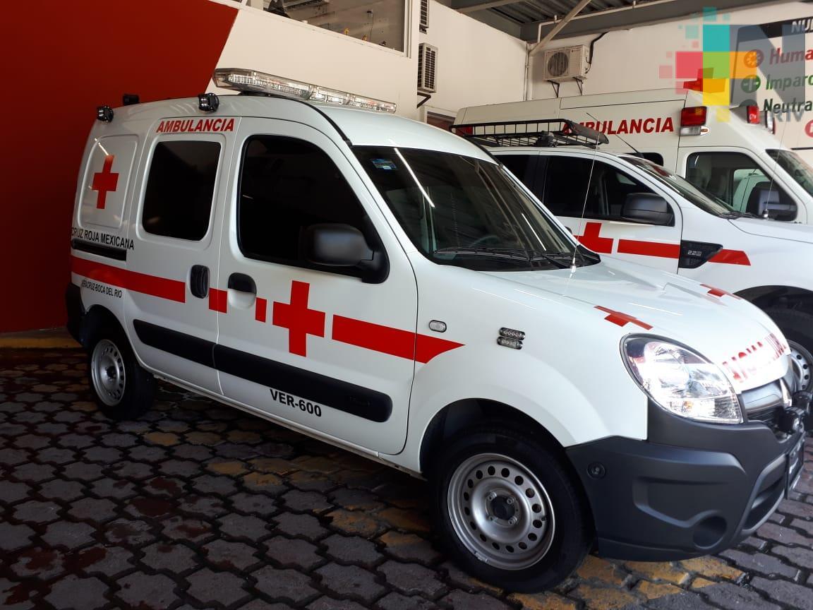 En 2018 Cruz Roja delegación Veracruz realizó 20 mil servicios de ambulancia