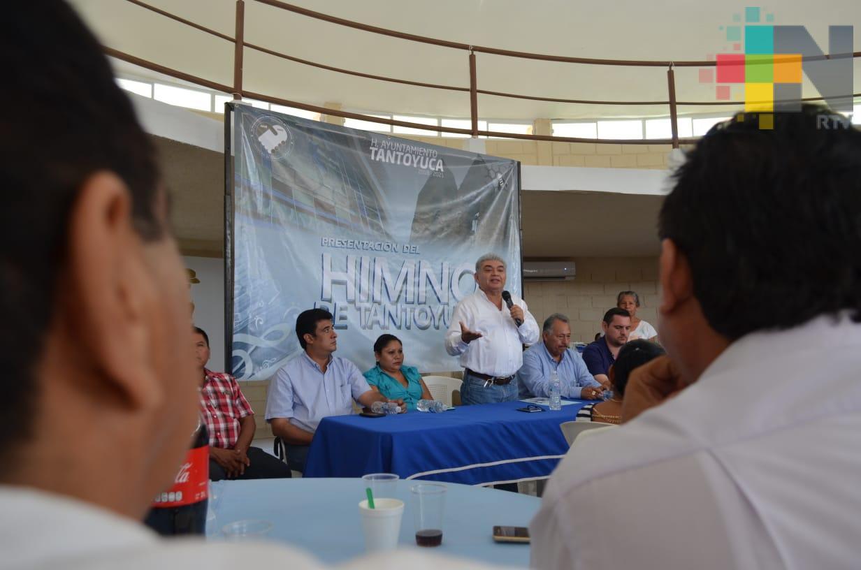 Presentan el himno de Tantoyuca a maestros; podrá entonarse en actos cívicos