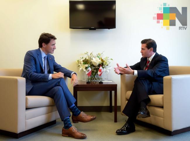 Presidente de México y primer ministro de Canadá dialogan sobre TLCAN