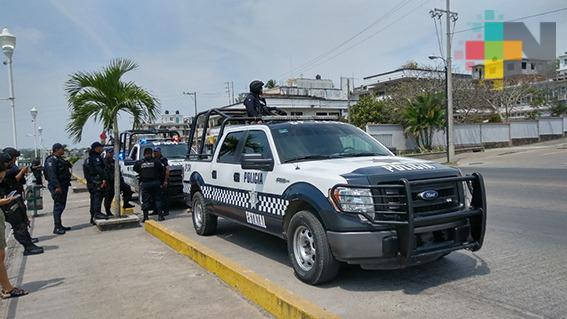 Refuerzan operativos de vigilancia en Tuxpan
