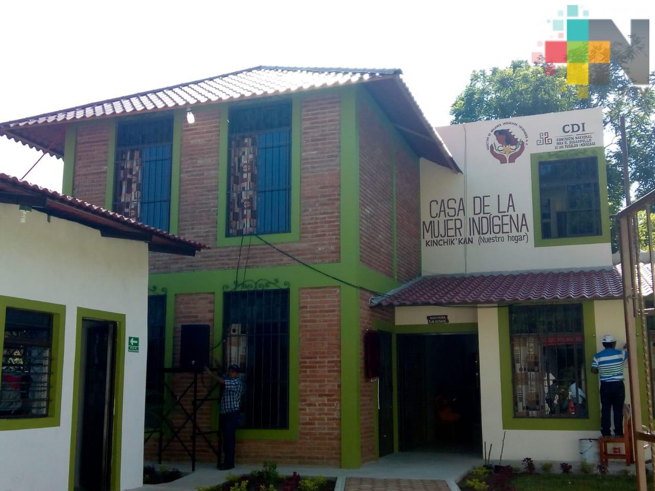 Casa de la Mujer Indígena en Papantla, espacio digno donde podrán promover su cultura y aprender