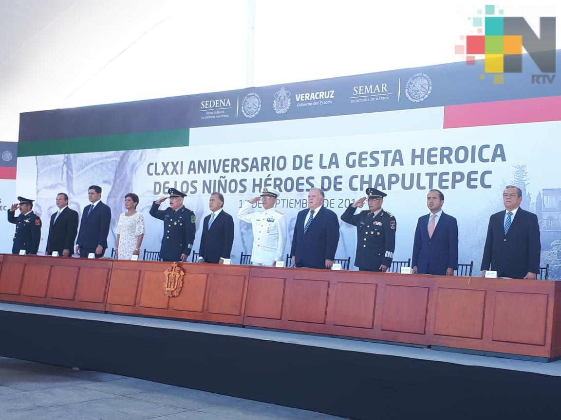 Gobernador Yunes encabeza ceremonia de la Gesta Heroica de los Niños Héroes