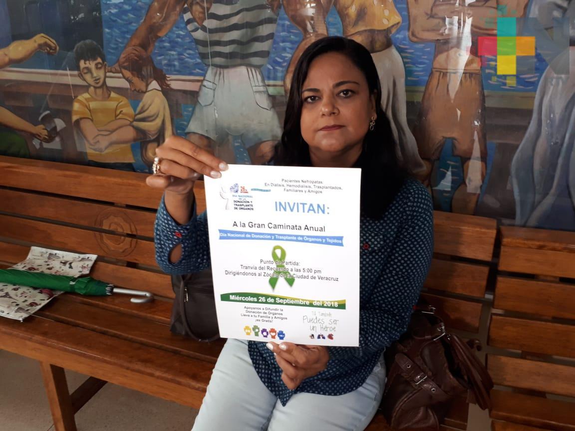 Con caminata por calles del Centro Histórico de Veracruz promoverán la donación de órganos