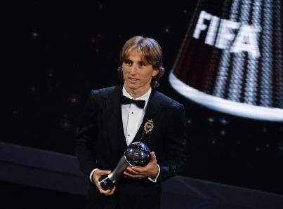Luka Modric recibe el Premio The Best FIFA al Mejor Jugador del 2018