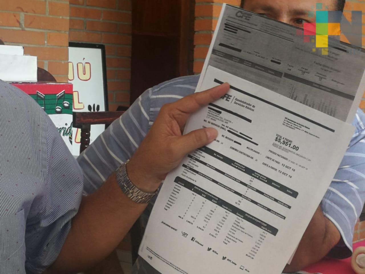 CCE de la zona sur denuncia aumento del 90% en cobros de energía eléctrica