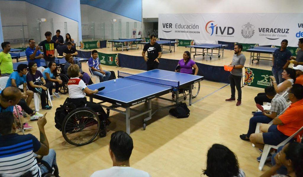 Veracruz pionero en la capacitación de Para-Tenis de mesa en México