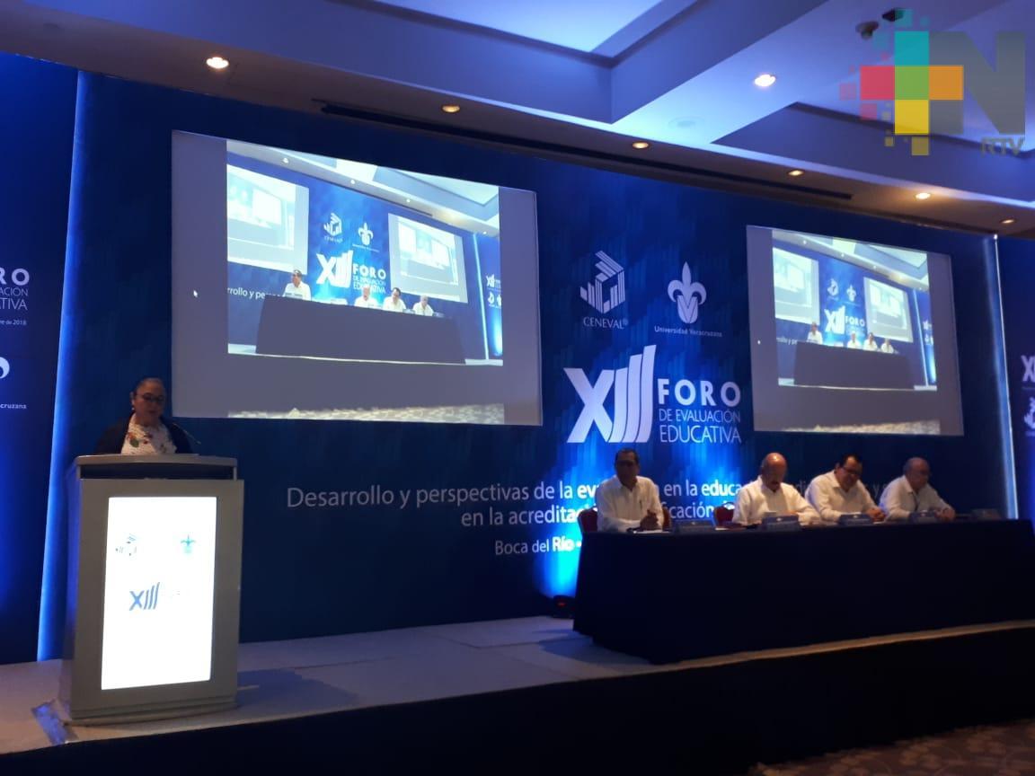 UV y Ceneval realizan foro de evaluación educativa en Boca del Río