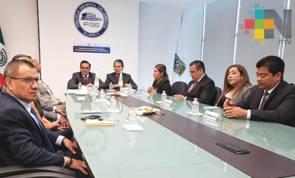 Suscriben FGE Veracruz y FGE Puebla convenio de colaboración en materia de trata de personas
