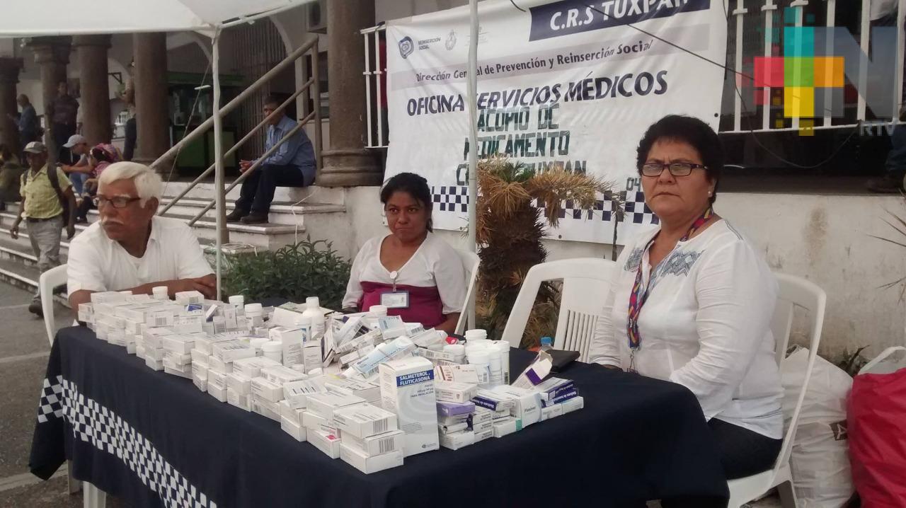 Cereso de Tuxpan instala centro de acopio de medicamentos