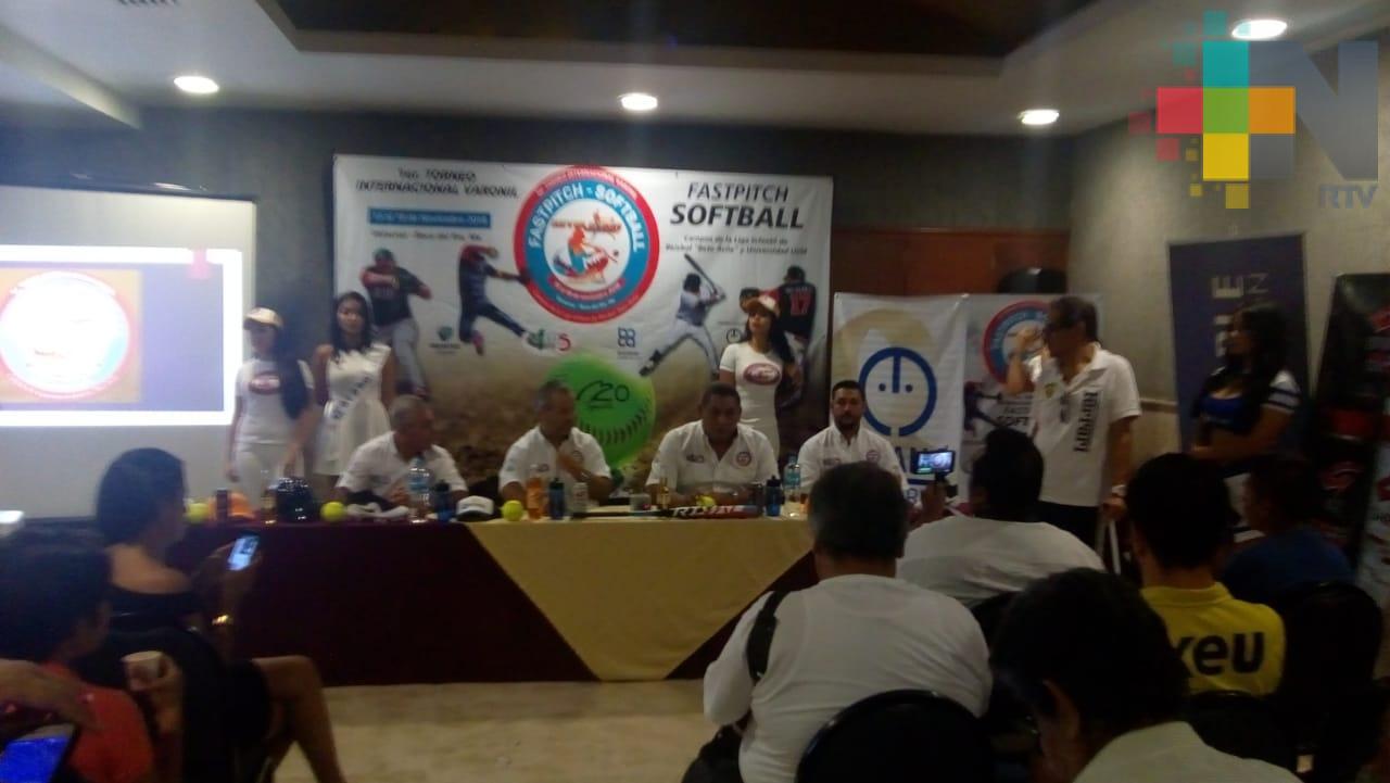 Veracruz sede del primer Torneo Internacional Varonil de Fastpitch Softball