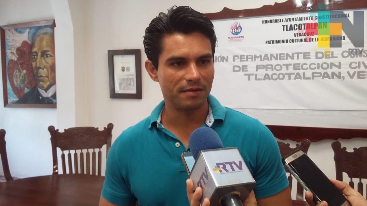 Alcalde de Tlacotalpan pide a población estar atentos por crecida de río