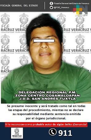 Probable agresor sexual fue detenido e imputado en San Andrés Tuxtla