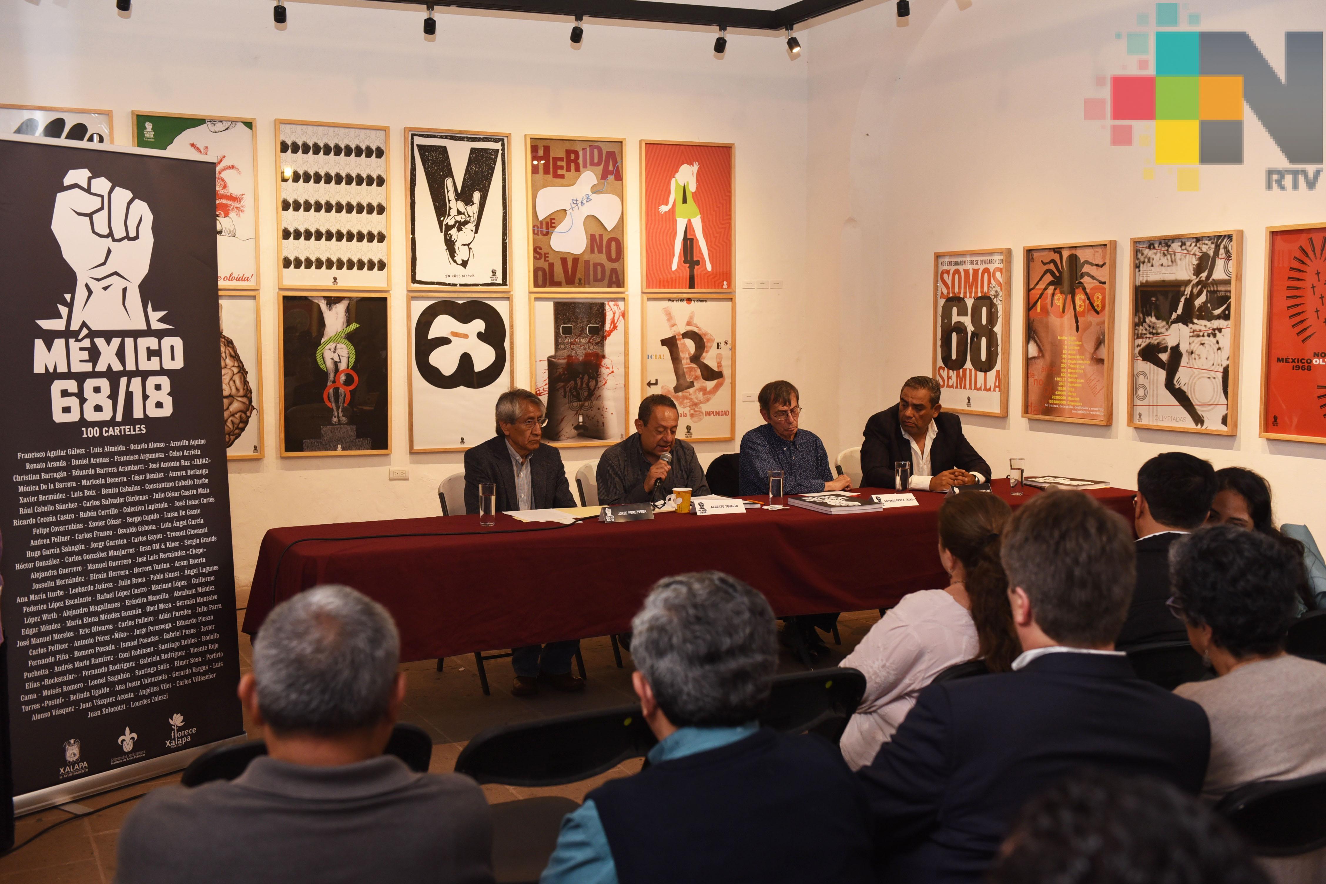 """Presentan el libro """"México 68/18, 100 carteles"""""""