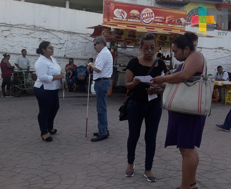 En Martínez de la Torre realizan actividades para la concientización del uso del bastón blanco