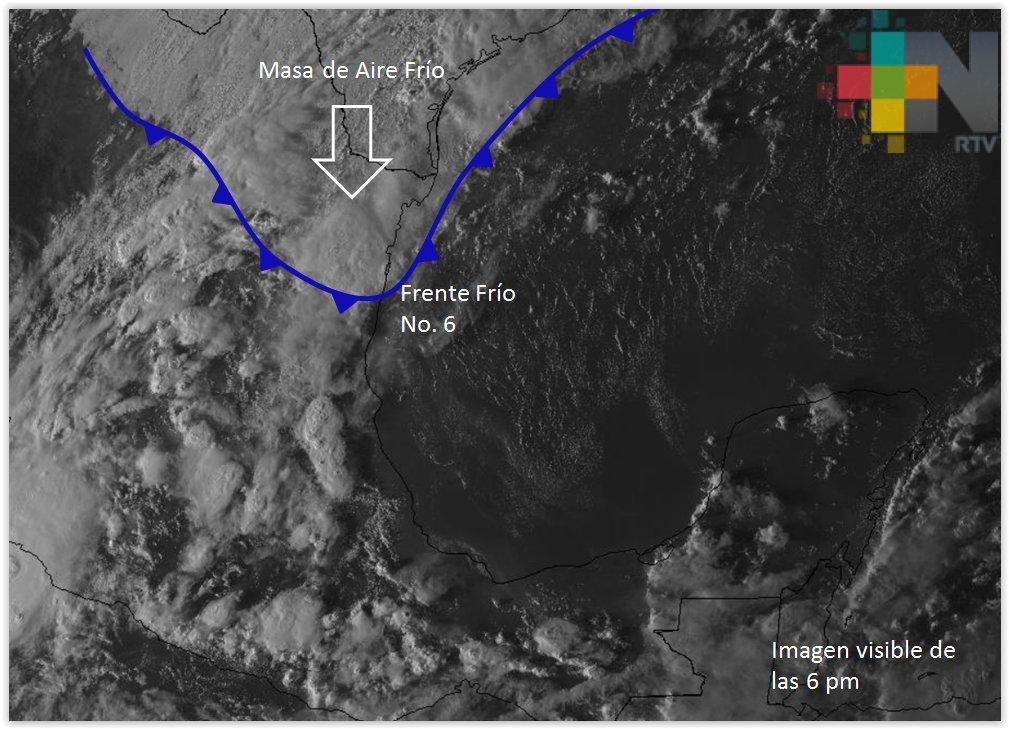 Tormentas y fuertes rachas de viento se esperan en Veracruz por FF 6