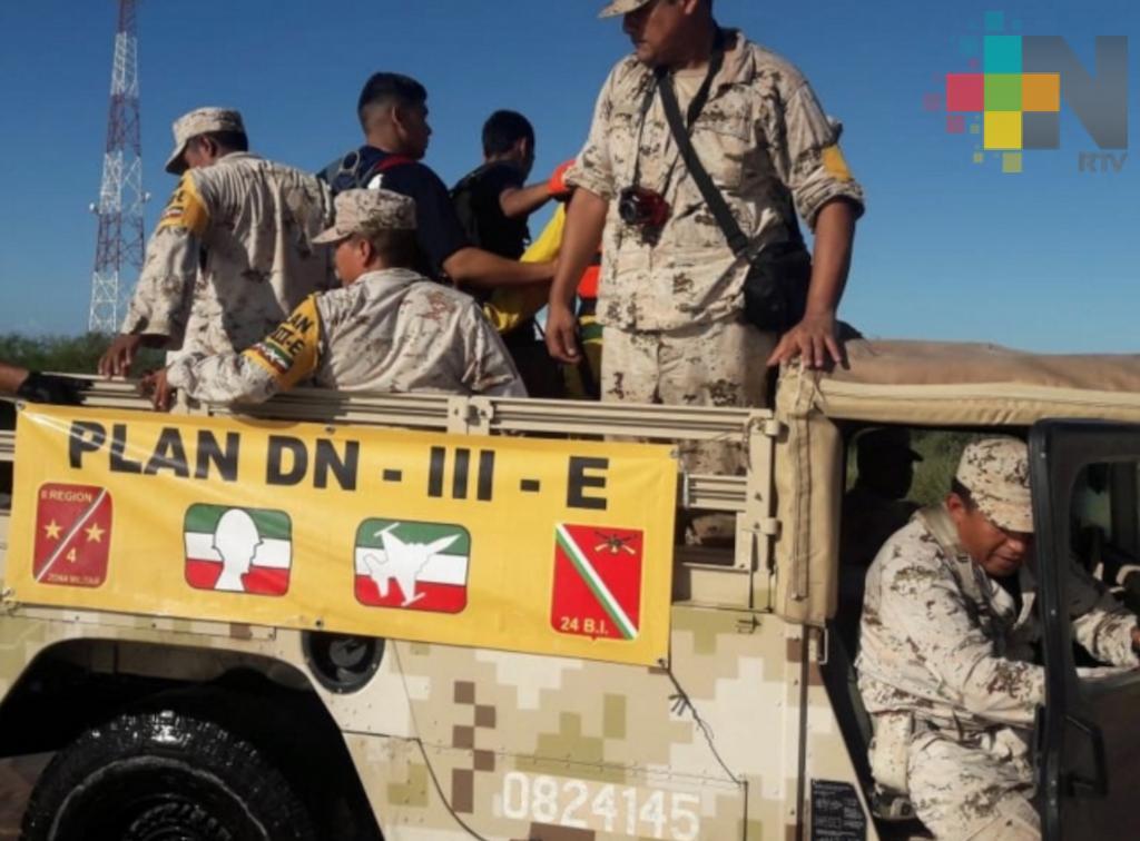 Continúa Plan DNIII en Baja California Sur por llegada de Sergio