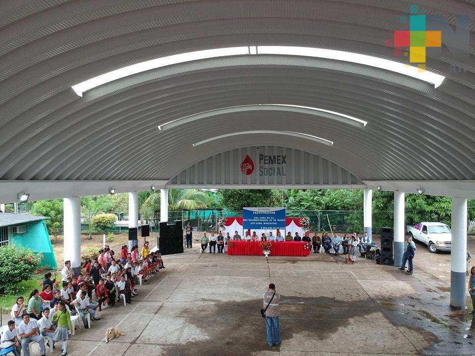 Pemex beneficia a Tierra Blanca con construcción de domo escolar