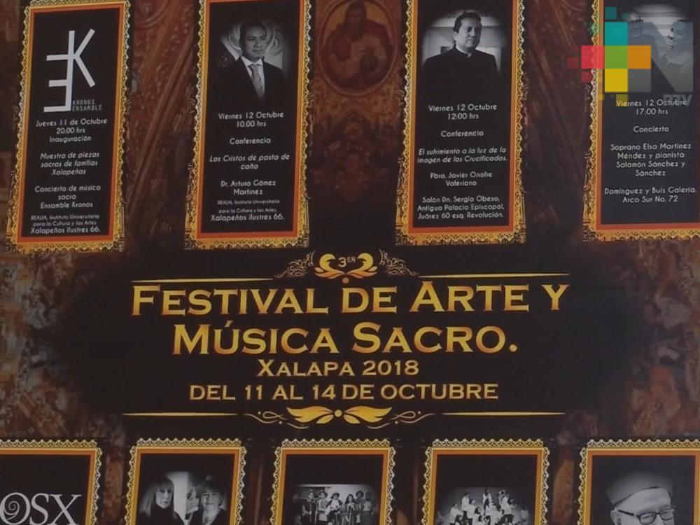 En Xalapa organizan Festival de Arte y Música Sacro