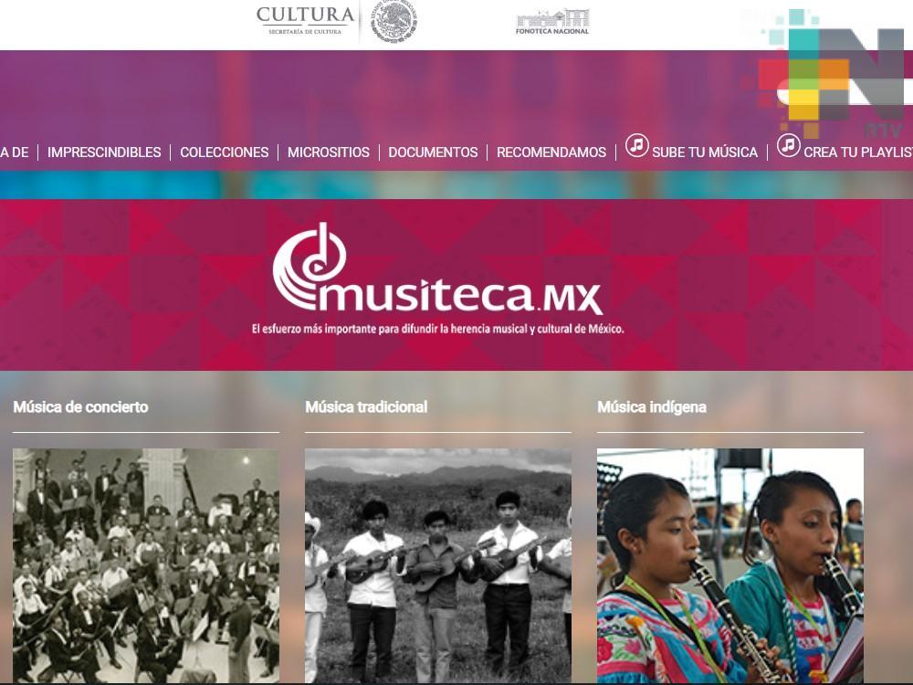 Presenta la Secretaría de Cultura la plataforma digital Musiteca.mx