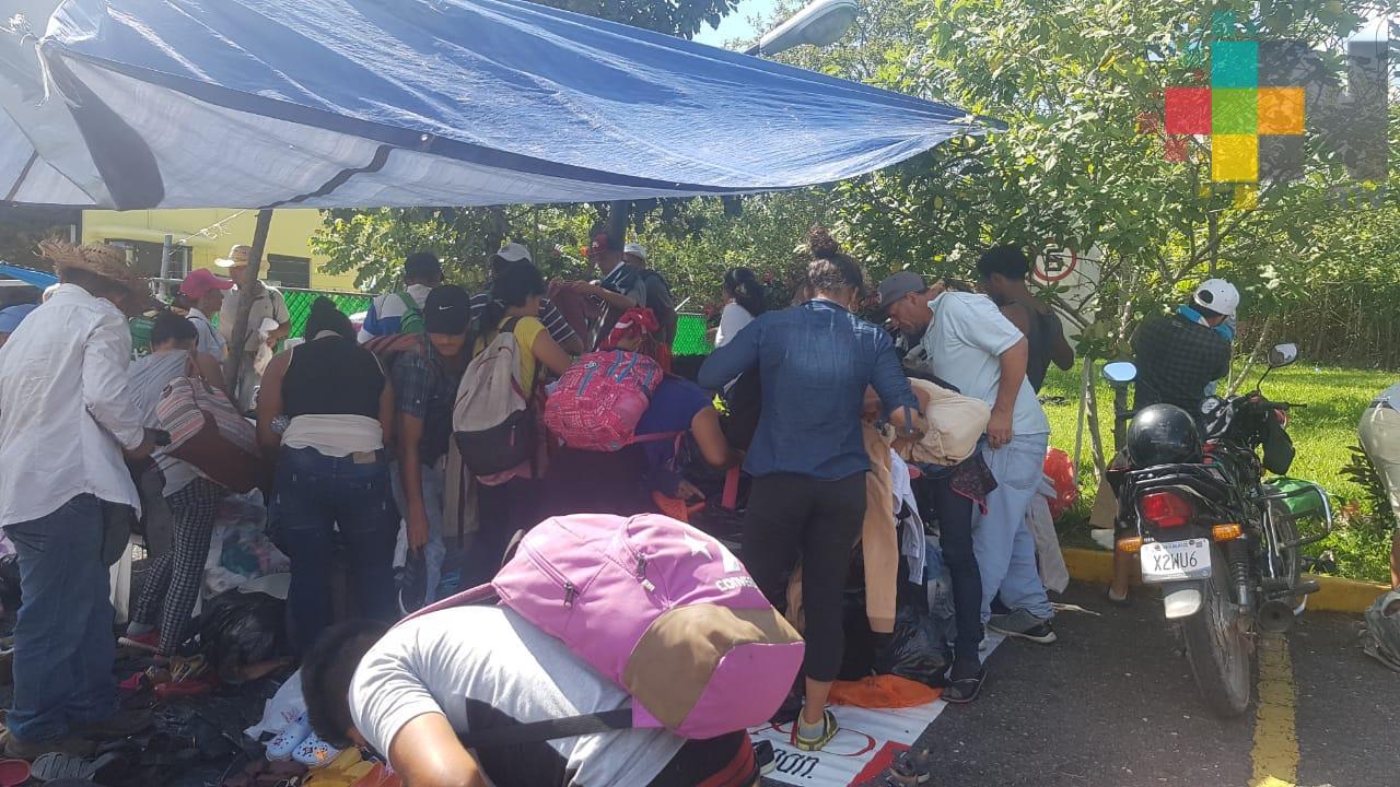 Aumenta atención de migrantes en Coatzacoalcos