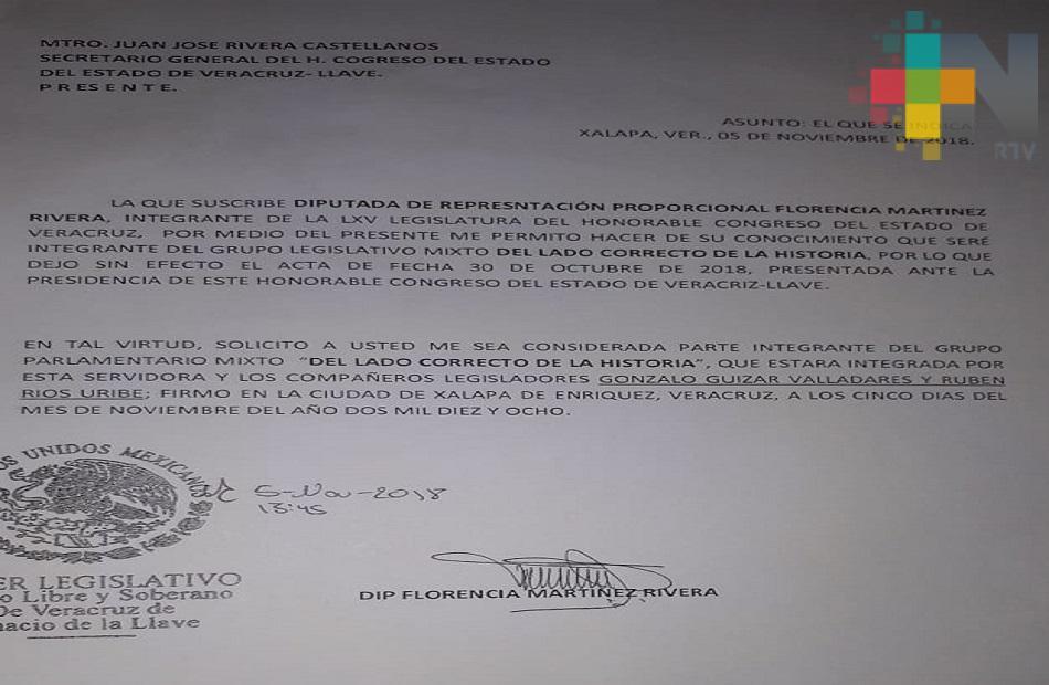 """Integran PRD y Encuentro Social el Grupo Mixto Legislativo """"Del Lado Correcto de la Historia"""""""