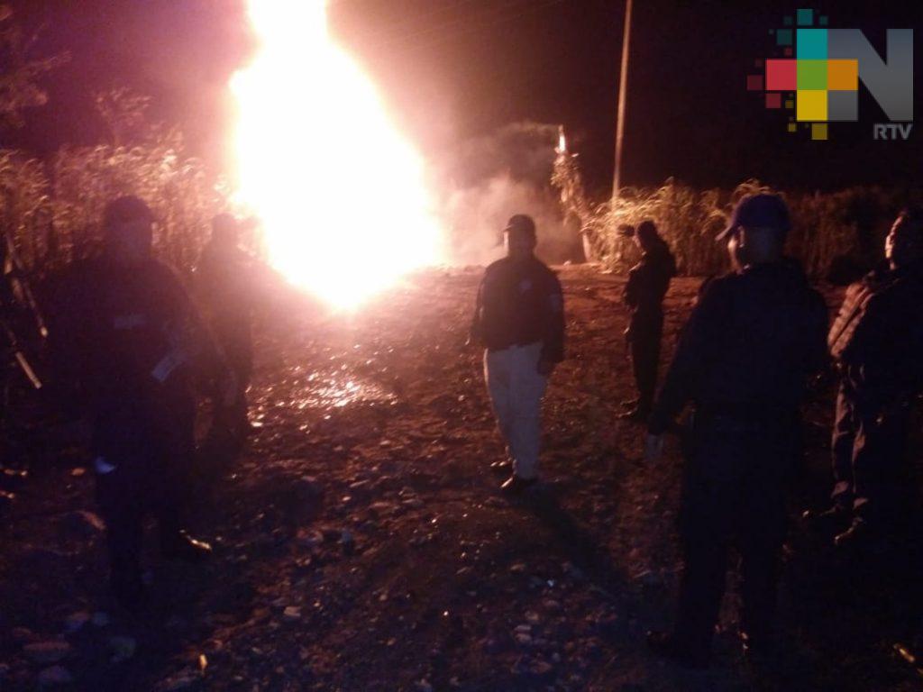 Huachicoleo provoca incendio en Omealca