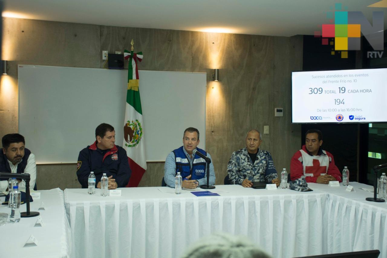 Más de 500 reportes atendió PC en Veracruz, Boca del Río y Medellín por norte