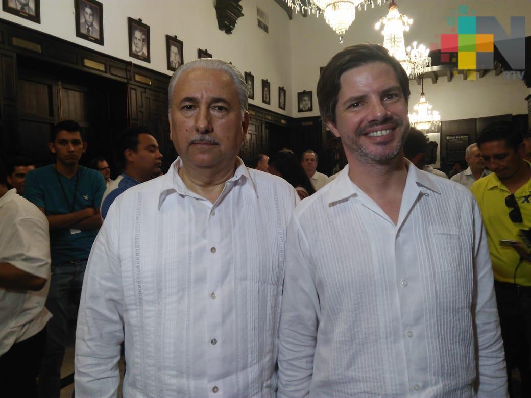 Embajador el reino de Bélgica recorre obra de Nuevo Puerto de Veracruz