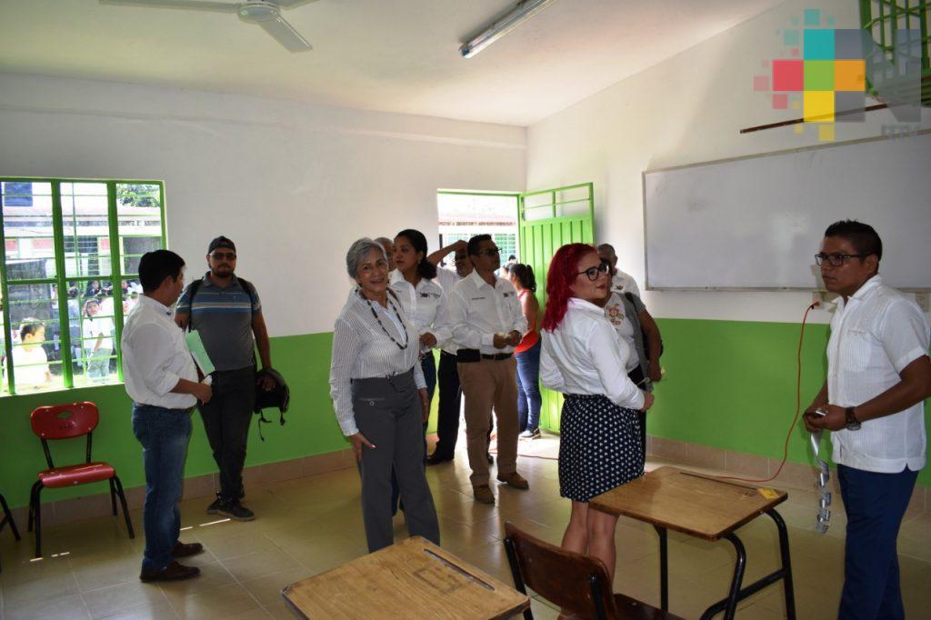 Rehabilitan escuelas dañadas por sismo en Tlapacoyan