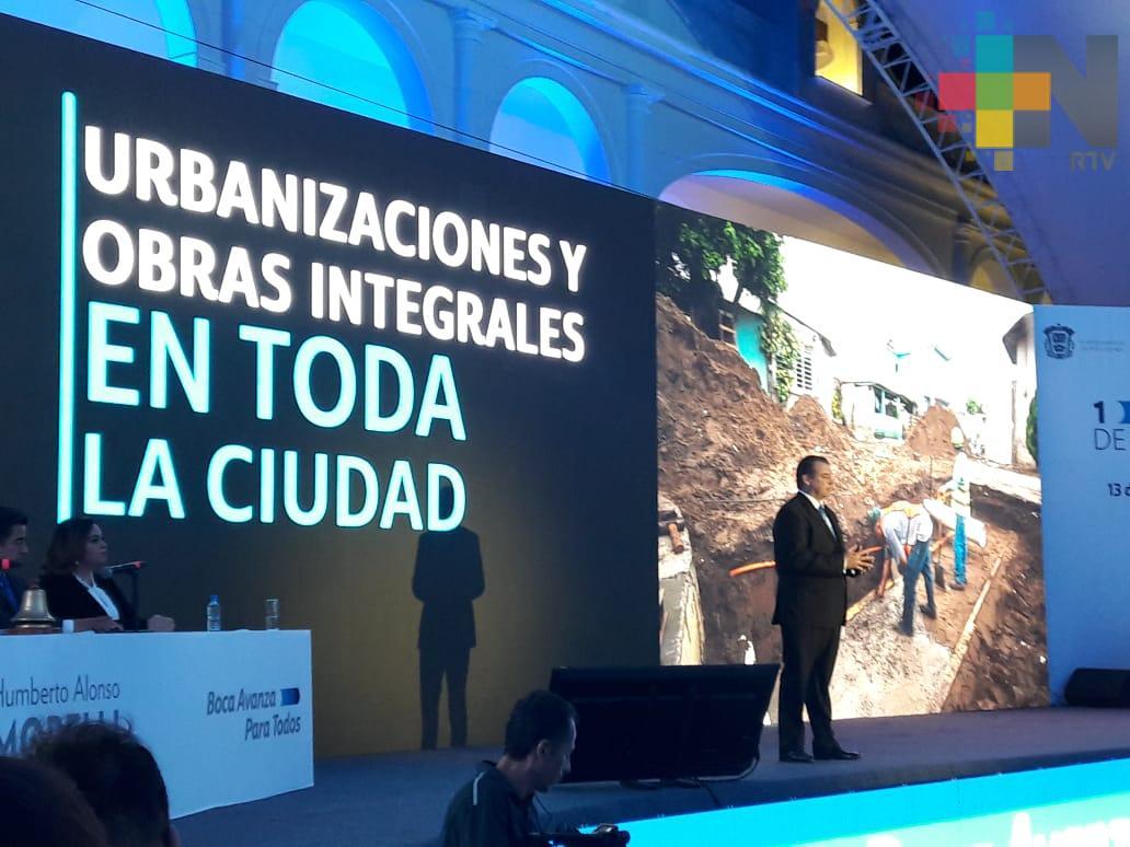 Humberto Alonso Morelli presenta su primer informe de labores