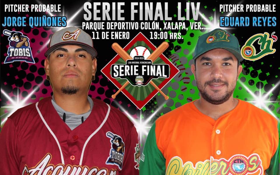 Se reanuda la Serie Final de la Liga Invernal Veracruzana