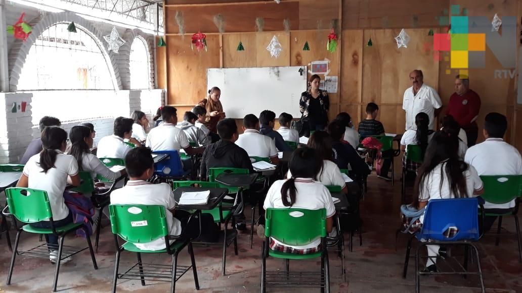 Autoridades educativas realizan acuerdos para construir telebachillerato en Tuxpan