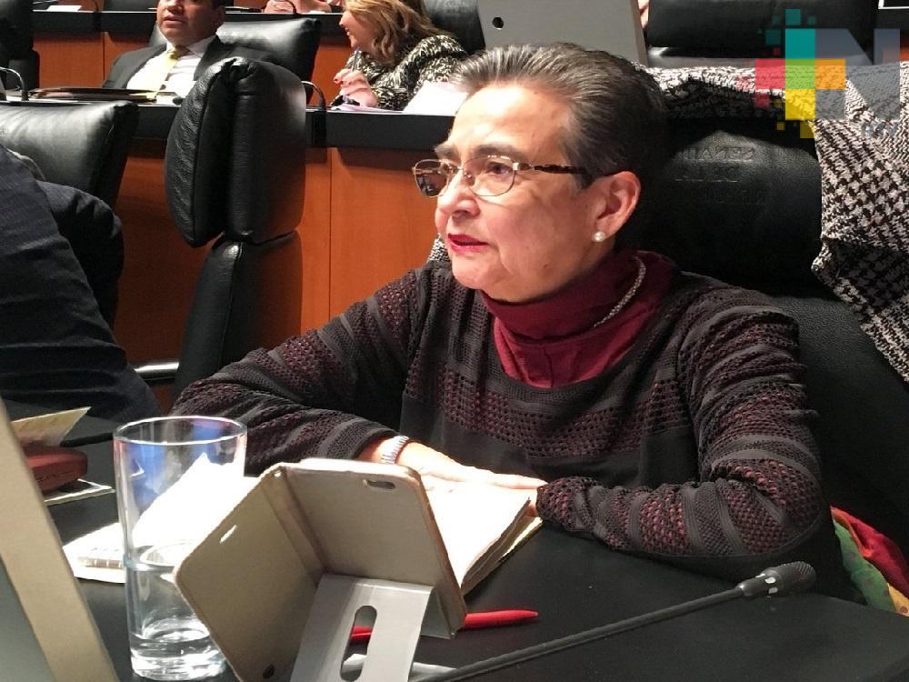 Con cortinas de humo, senadores panistas encubren huida de los delincuentes Yunes y Winckler: senadora Gloria Sánchez