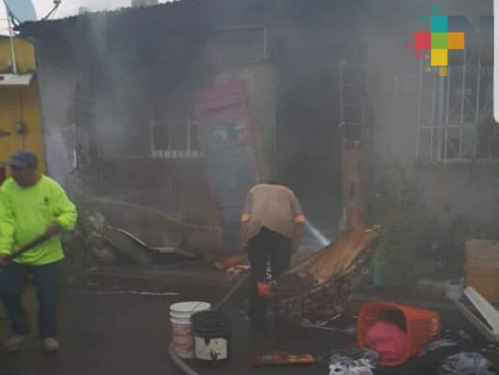 Fallece uno de los menores tras incendio en Alvarado