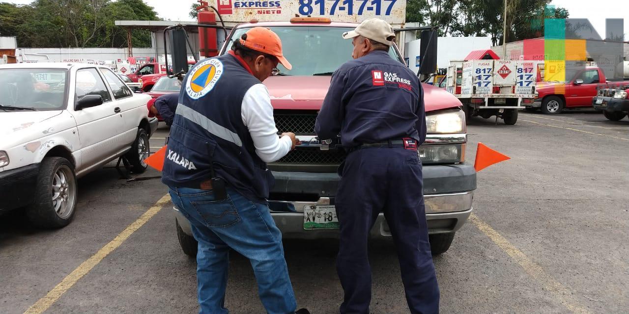 Inspecciona PC unidades repartidoras de gas, en Xalapa