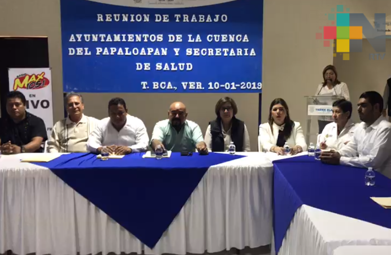 Se reúne el secretario de Salud con autoridades de la cuenca del Papaloapan