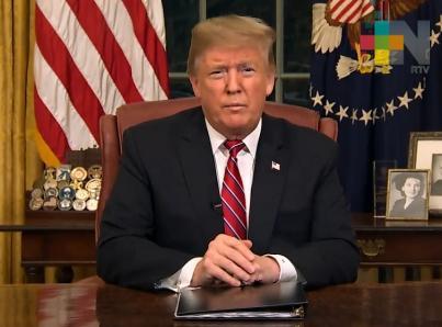 Trump culpa a demócratas de cierre del gobierno por no financiar muro