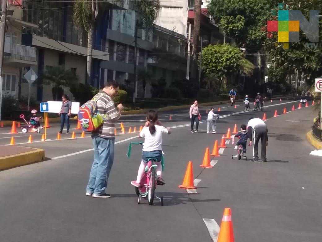 En Xalapa, primera Vía Recreativa del 2019