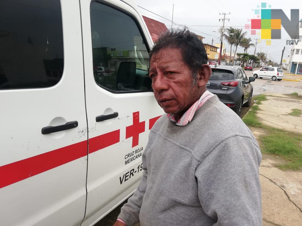 Persona, de la tercera edad, atacado por abejas en Coatzacoalcos