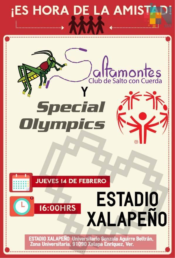 Salto con cuerda considerado en Olimpiadas Especiales Veracruz