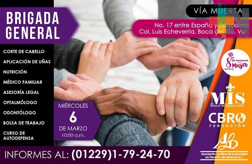 Asociación ofrecerá brigadas de atención médica, psicológica y nutricional en Boca del Río