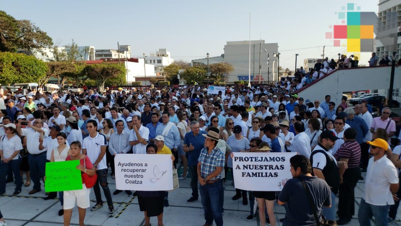 En Coatzacoalcos habitantes piden reforzar acciones de seguridad
