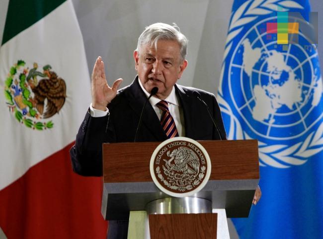 Acompañamiento de Naciones Unidas apoyará combate a corrupción López Obrador