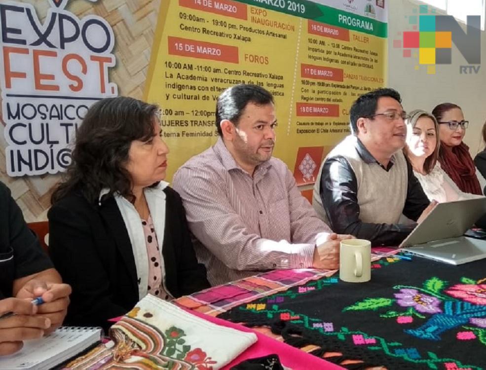"""Expo Fest """"Mosaico de Cultura indígena"""" se realizará del 14 al 18 de marzo en Xalapa"""