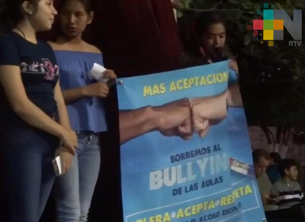 Secundaria de Tantoyuca realiza actividades para disminuir acoso escolar